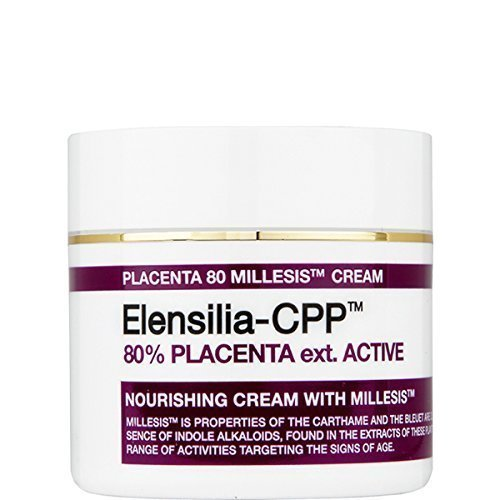 Korean Cosmetics_ Elensilia 80 Percent Placenta Extract Anti-Aging Cream With Millesis Cream 50gram (Placenta (Placenta Anti Aging)