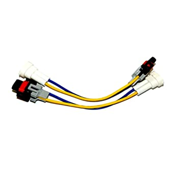 51oF8OM8x9L._SY355_ amazon com h11 male and female wire harness automotive male to female wiring harness at gsmx.co