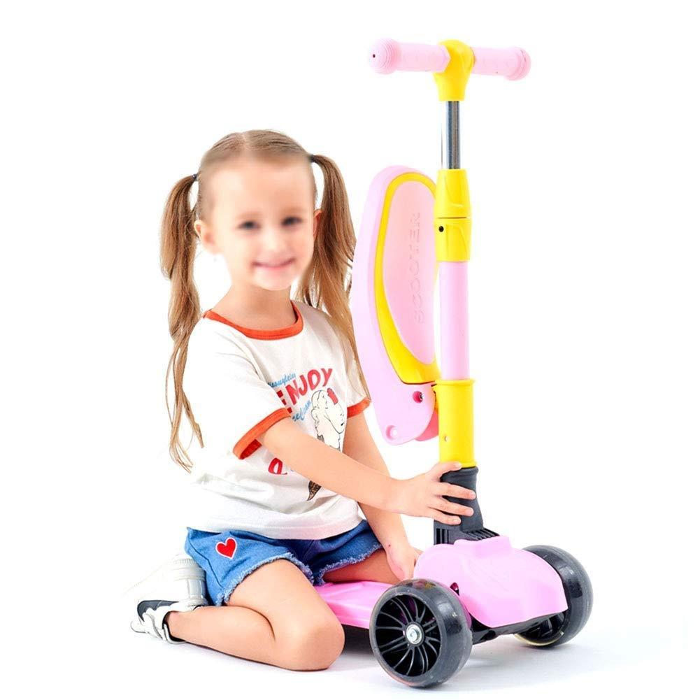 春新作の スクーターを蹴る子供たち 子供用スクーター ピンク)、四輪点滅のよ (色 (色 : ピンク) B07R52JM2J B07R52JM2J ピンク, ベストスリング:dbbbe0c5 --- 4x4.lt