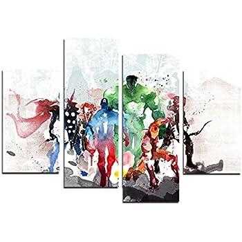amazon com atfart 4 piece the avengers modern art canvas wall