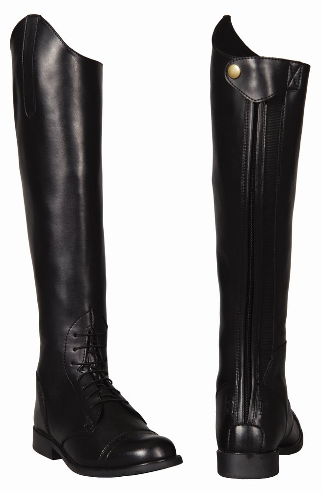 TuffRider Women's Starter Back Zip Field Boots in Synthetic Leather 3052-P