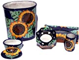 Sunflower Talavera Ceramic Bathroom Set