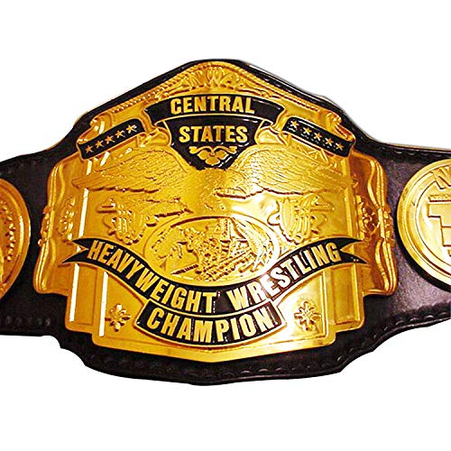 - EasyBuyingShop NWA Central States Heavyweight Wrestling Title Replica Championship Belt - Brass Metal 4mm Plates