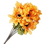 Factory-Direct-Craft-Poly-Silk-Artificial-Zinnia-Bush-for-Indoor-Decor-4-Bushes-Yellow