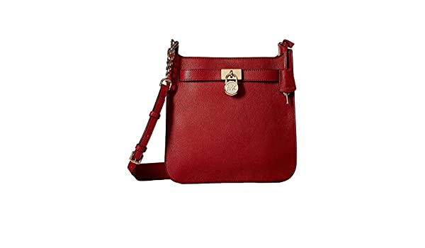 0983b56a18b97 Amazon.com  Michael Kors Hamilton Medium Leather Messenger - Burnt Red -  30T7GHMM2L-361  Shoes