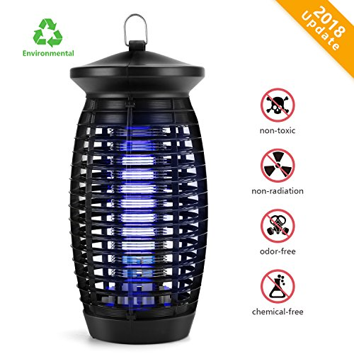 Electric Indoor Bug Zapper  Mosquito Zapper Fly Trap  Insect Killer Fly Zapper Mosquito Trap With 120V Uv Bug Light 500 Sq Ft Coverage For Home Garden Patio Yard Office Store  Black