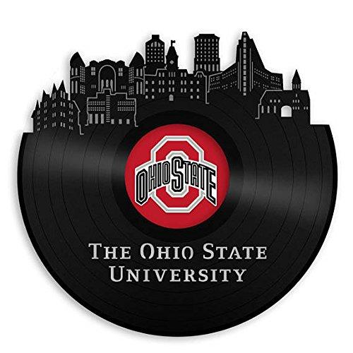 VinylShopUS - Ohio State University Vinyl Wall Art Record School Universities | Bachelor Gift for Student | Decoration Home Office Decor