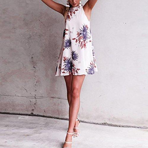 gaddrt Fashion Damen Kleider Sommer Sexy Blumendruck Sleeveless ...