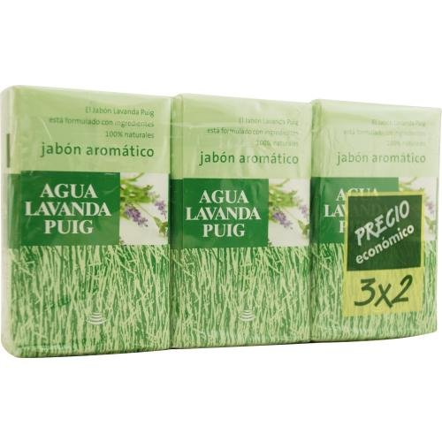 Antonio Puig - SET OF 2 SOAPS PLUS 1 FREE AND EACH IS 4.4 - Puig Lavanda Agua Set