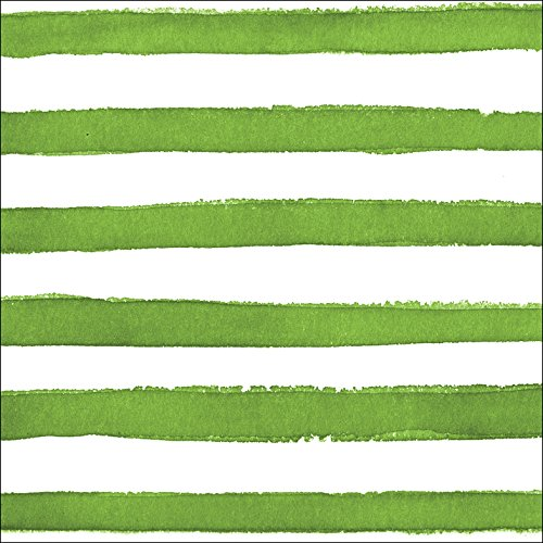 (Creative Converting (657531) 24 Count Premium Patterned Beverage Napkins, Dotted and Striped, Verdi)