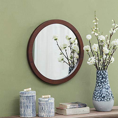 Bathroom mirror Round Mirror - Wooden Wall Mirror, Decorative Round Mirror in -