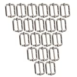 Metal Triglides Slides 25mm Webbing Belt Buckles Handbag Bag Strap Adjuster Pack of 20