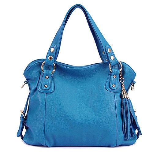 UNYU Tote Bags - Bolso al hombro para mujer Azul