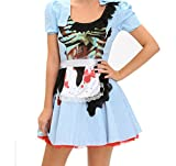 YeeATZ Women's Zombie Kansas Girl Adult Halloween Costume(Size,S)