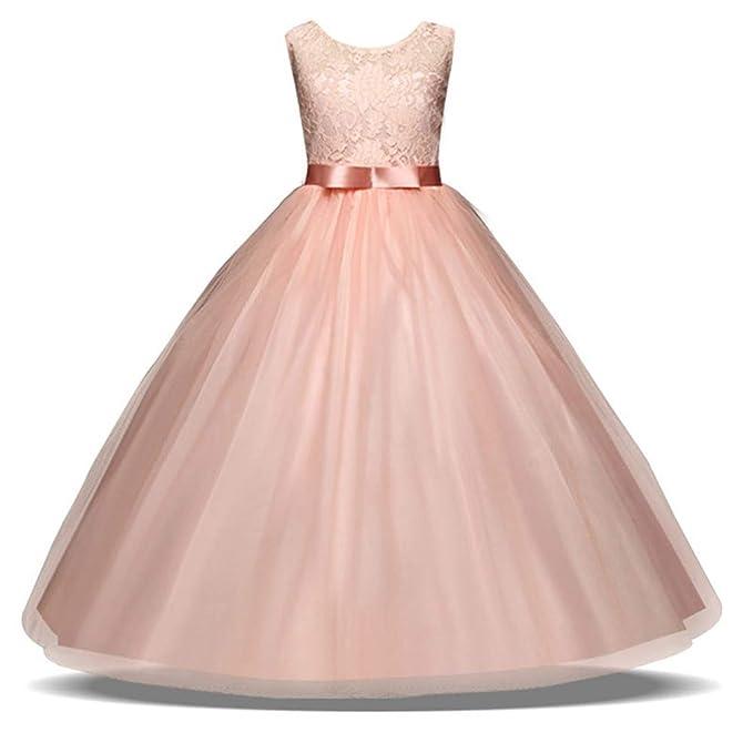 siphly Vestido de Fiesta de Princesa de para Niñas Vestido de ...