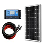 ECO-WORTHY 12 Volt 100 Watt Monocrystalline Solar Panel Kit for 12V Off Grid Battery Charging