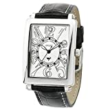 [Michelle Jordan] Michel Jurdain Watch Sports Diamond White Leather Men's Black X Sg3000-3 Men
