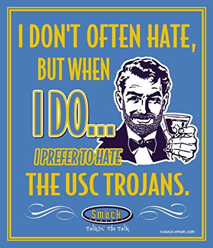 (Smack Apparel UCLA Football Fans. I Prefer to Hate The USC Trojans 12'' X 14'' Metal Man Cave Sign)
