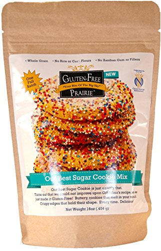 Whole Wheat Sugar Cookies - Gluten Free Prairie, Our Best Sugar Cookie Mix, 16 Ounce (Pack of 1), Certified Gluten Free Purity Protocol, All Natural, Whole Grain, Vegan, No Rice Flours, High in Protein and Fiber