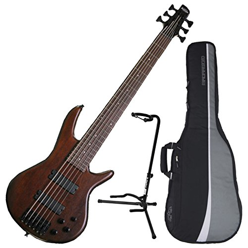 - Ibanez GSR206BWNF 6-String Electric Bass Walnut Flat Finish w/ Gig Bag and Stand