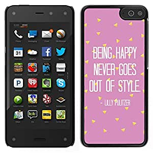 iKiki Tech / Estuche rígido - Motivación Rosa texto - Amazon Fire Phone