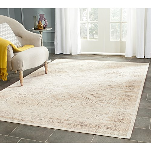 Safavieh Vintage Premium Collection VTG118-3440 Transitional Oriental Stone Distressed Silky Viscose Area Rug (6'7