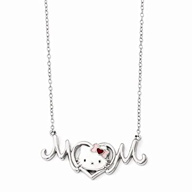 449e2554b Image Unavailable. Image not available for. Color: FB Jewels Solid Hello  Kitty 925 Sterling Silver ...
