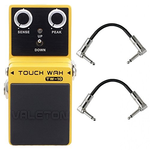 Valeton TW-10 Analog Guitar Pedal with 2 Patch Cables (Auto Wah) by Valeton