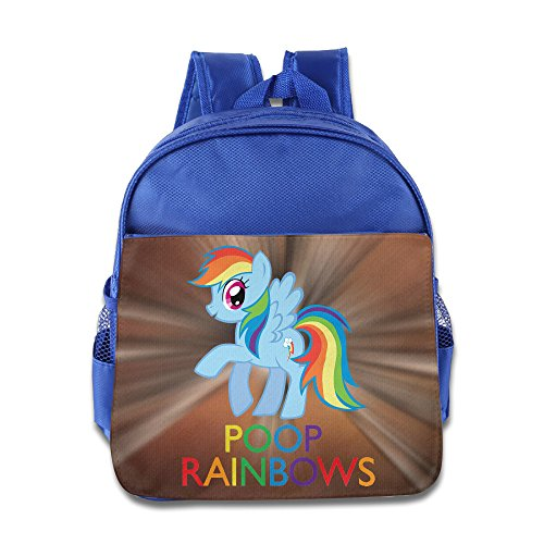 KIDDOS Infant Toddler Kids Rainbow I Poop Rainbows Backpack Bag, RoyalBlue