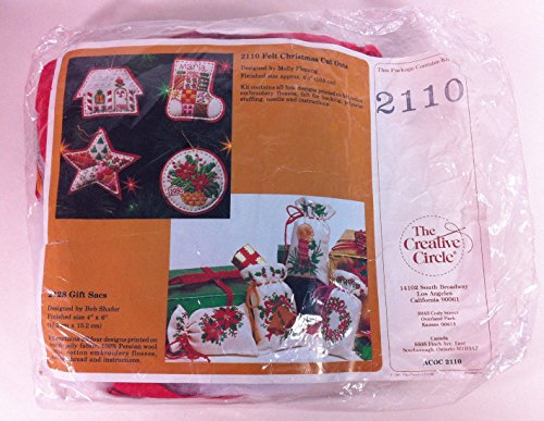 The Creative Circle 2110 Felt Christmas Cut Outs Flemming Holiday Ornament Kit .supply.from:timekitten