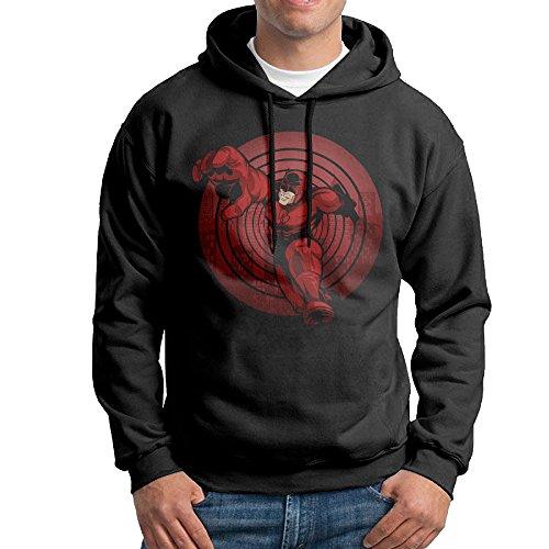 Bekey Men's Daredevil Pullover Hoodie Sweatshirt XL Black (Daredevil Elektra Costumes)