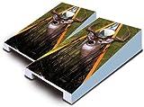 Buck Deer Whitetail Hunting TABLETOP Desktop Cornhole Boards Game Set Bean Bag Tailgate Toss Mini Miniature