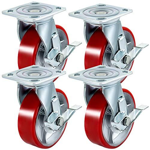 BestEquip 4 Pack Caster Wheels 5