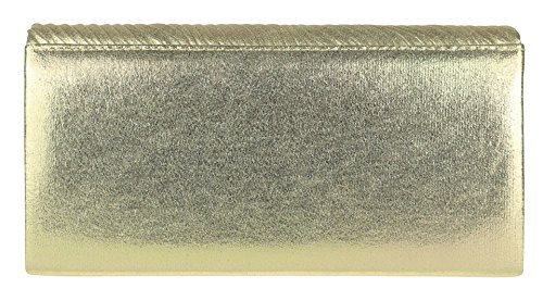 Bag Shimmer Clutch Bag Girly HandBags Gold Girly HandBags Clutch Embossed Embossed Shimmer HqUfwS6