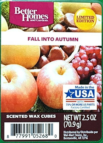 - Better Homes and Gardens Scented Wax Cubes, 2.5 Ounce - Fall Into Autumn