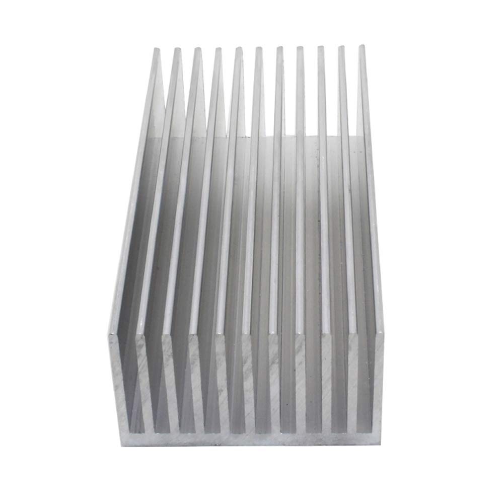 3.94x1.97x1.18 inches Aluminum HeatSink for Electronic Chip LED Cooler Cooling 100x50x30mm