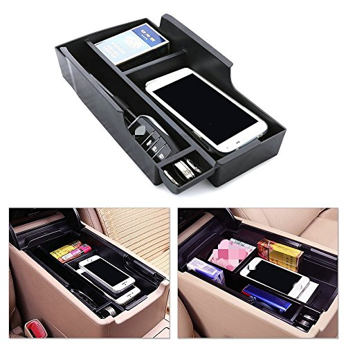 Car Armrest Secondary Console Storage Box Glove Pallet Container For 2012-2015 Toyota Camry (XV50)