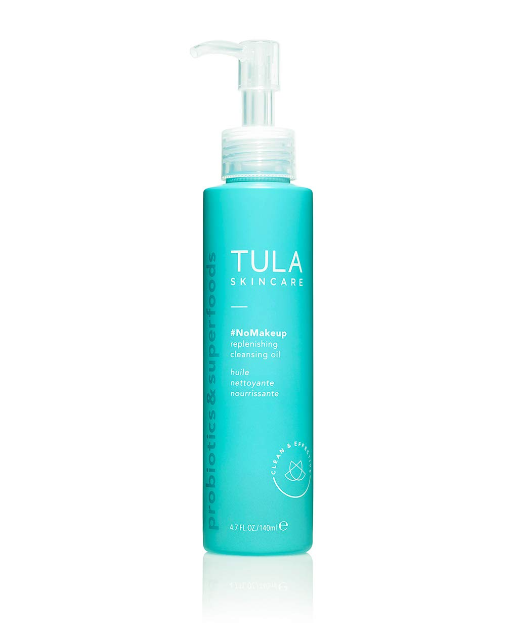 TULA Probiotic Skin Care #nomakeup Replenishing Cleansing Oil | Oil Cleanser and Makeup Remover, Gently Clean and Remove Stubborn Makeup and Residue | 4.7 oz.