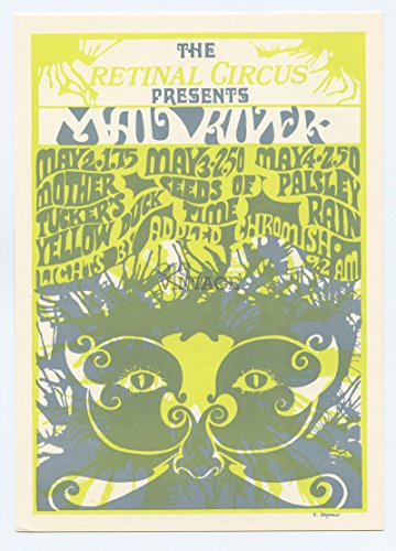 (Retinal Circus Postcard 1968 May 2 Mad River Mother Tuckers Yellow Duck Vancouver Canada)