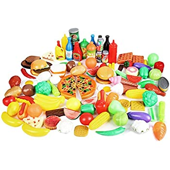 1561314f30a4 CatchStar Play Food Durable Pretend Food Plastic Vegetable Toy Set for Kids  Toddlers Play Kitchen Playset Accessories Gift Toy 120 Piece