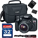Canon EOS Rebel T6 Digital SLR Camera with EF-S 18-55mm F/3.5-5.6 IS II + ES100 Case + 32GB Class 10 SD Card - International Version