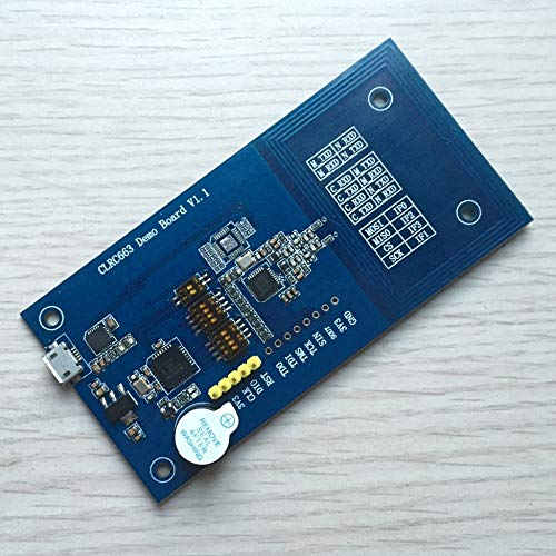 Lysee CLRC663 DEMO board supports serial port, IIC, SPI, and official script software, onboard LPC1114.