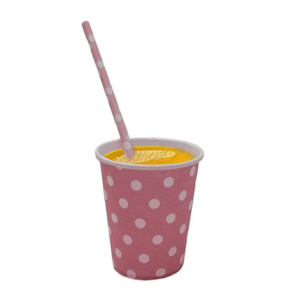 Amazon com: Light Pink And White Polka Dot Paper Cup And