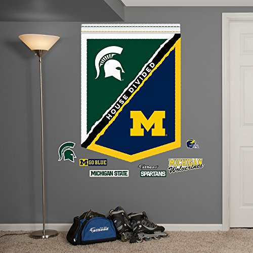 NCAA Michigan State Spartans U of M House Divided Banner Fathead Real Big Decals, 34
