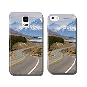 Cinematic Road to Mount Cook , New Zealand. cell phone cover case iPhone6 Plus