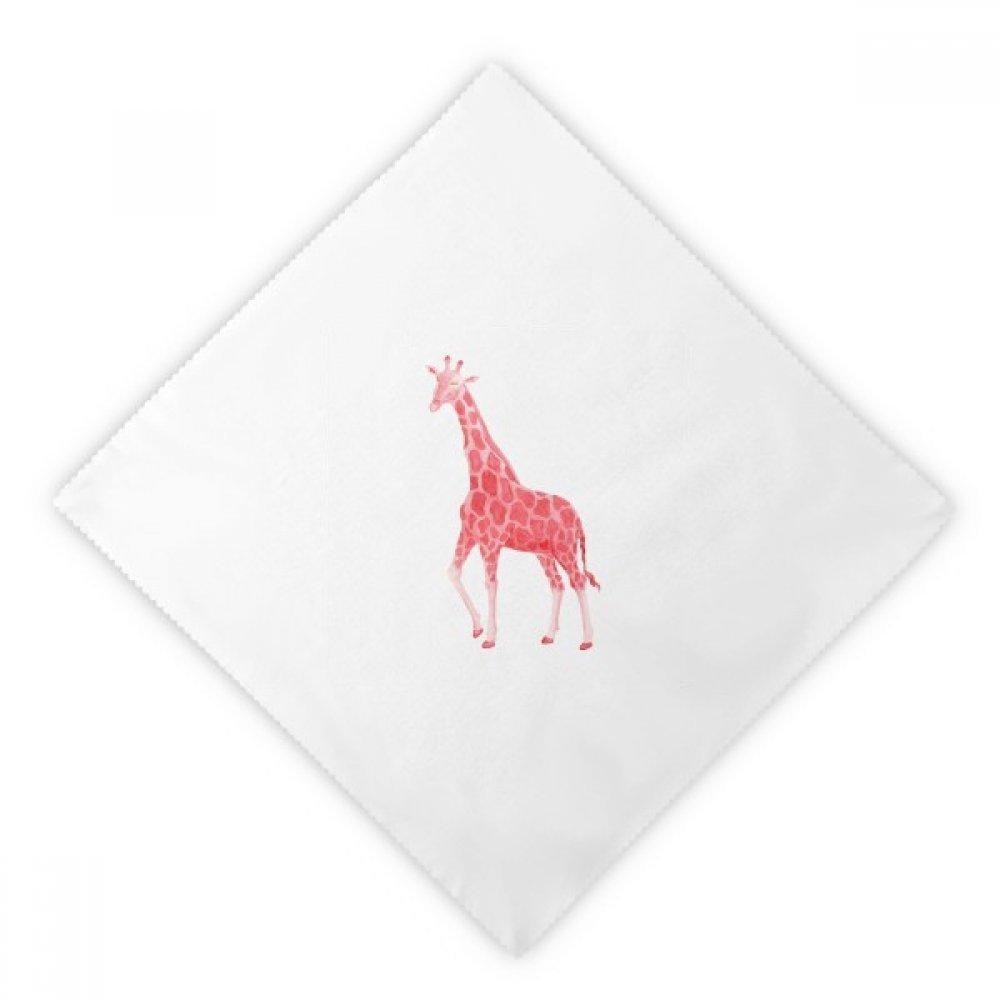 DIYthinker IUCN Endangered Animals Red Giraffe Dinner Napkins Lunch White Reusable Cloth 2pcs