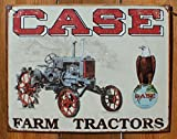 """Case Tractor - CC High Clearance Metal Tin Sign 16""""W x 12.5""""H"""