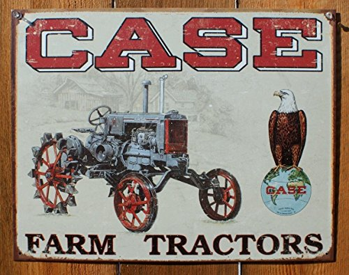 Case Tractor - CC High Clearance Metal Tin Sign 16