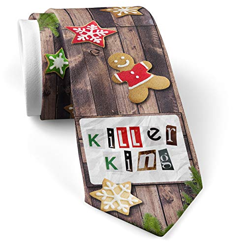 His Christmas NeckTie Killer King Ransom Blackmail Letter cookie wood print