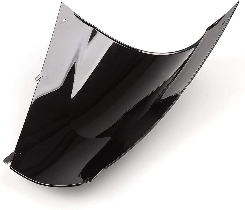 Black Windshield Windscreen Double Bubble For Kawasaki Ninja ZX12R 2002-2005